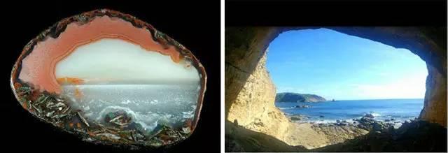 亿年石头里竟然藏着一幅画,太美了
