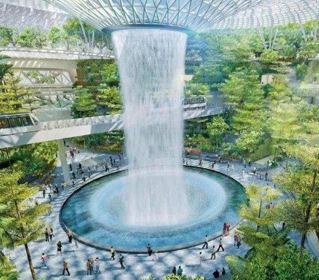新加坡最美的机场,千只蝴蝶翩翩飞舞,游客如同置身雨林