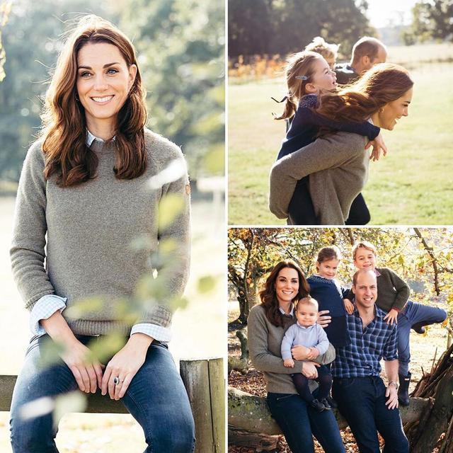 凯特王妃三个娃最新动态,夏洛特霸气乔治冷到失仪态,路易长大了