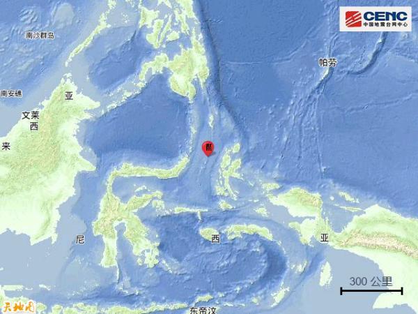 印尼马鲁古海北部发生5.8级地震