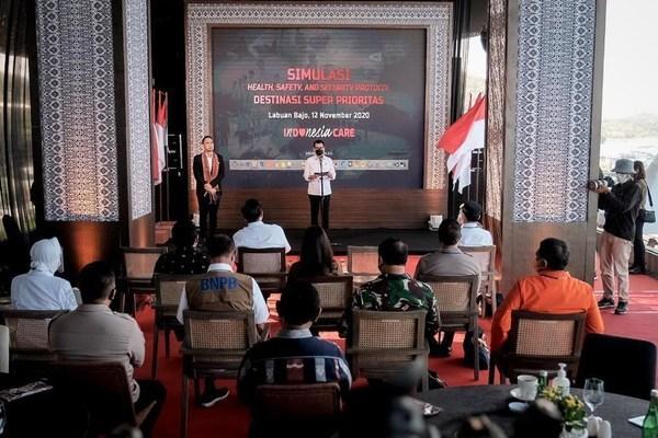 印尼旅游与创意经济部举办全国旅游目的地3K流程模拟演练