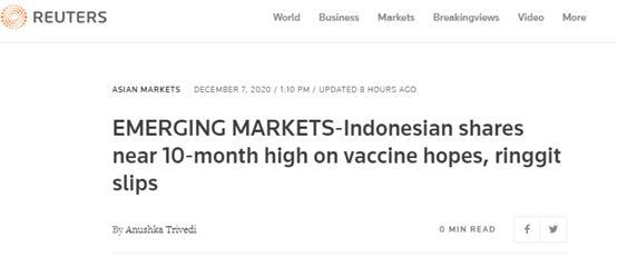 中国的疫苗刚到印尼,西方媒体的抹黑就来了