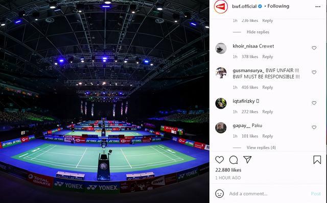 印尼球迷怒喷世界羽联 没我们夺冠了也没意义