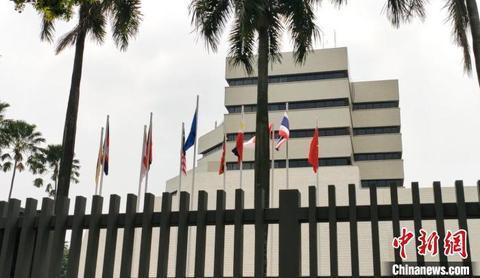 东盟领导人特别会议雅加达举行 印尼军警大阵仗维安