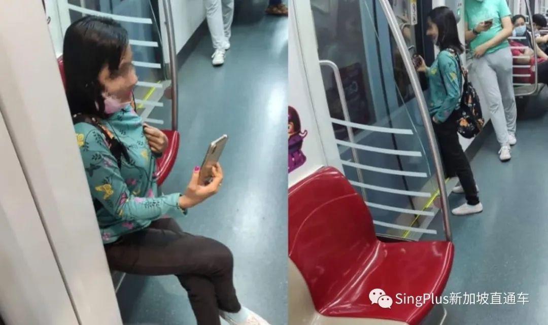 新加坡女子地铁上拒戴口罩