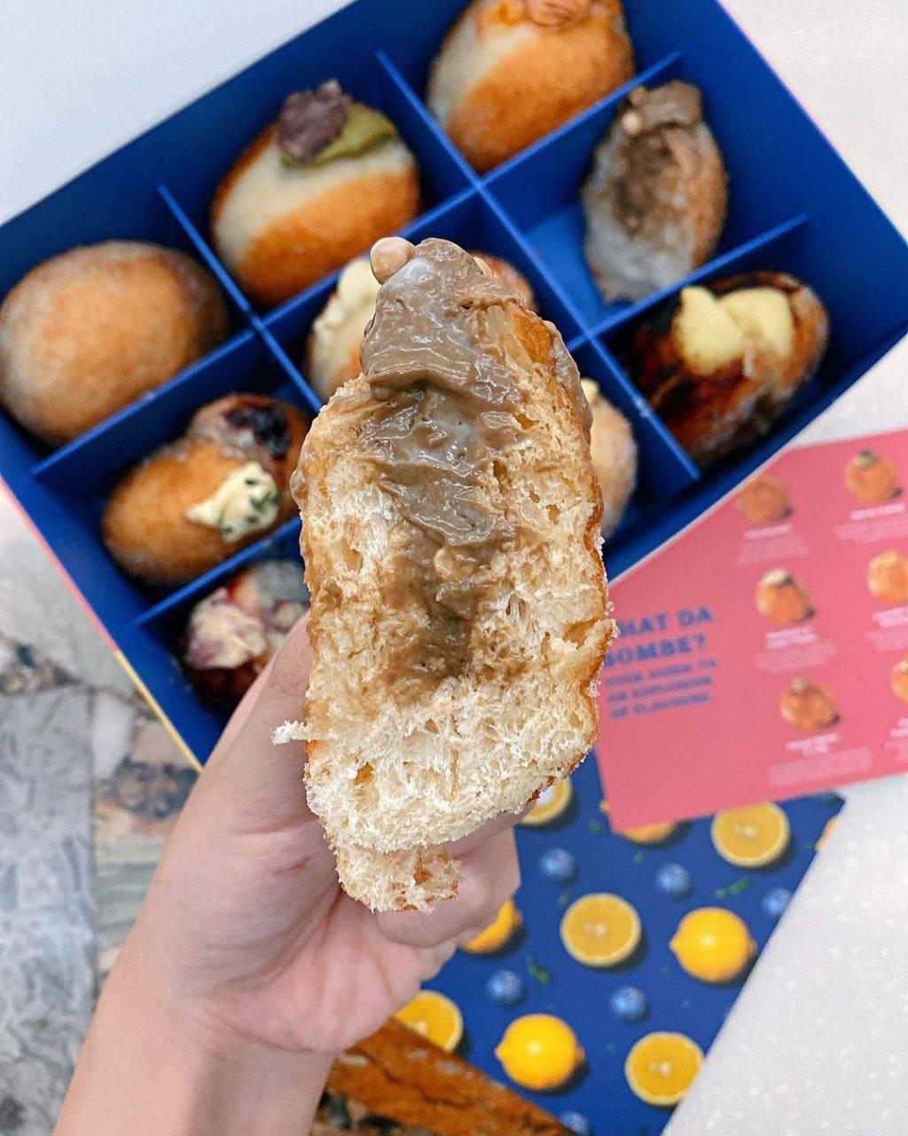 酸面团做出甜甜圈Sourbombe Artisanal Bakery😮丰富内馅一咬就爆浆!卡路里炸弹来袭💣