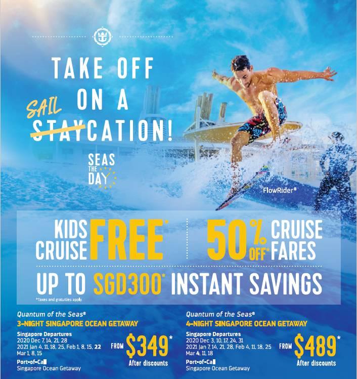 【邮轮】海洋量子号超值促销《儿童免费》魔幻2020年底&2021年初带你启航 3晚航线$380起