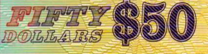 一张由华人设计、并且多处体现中国元素的新加坡50元塑料纪念钞