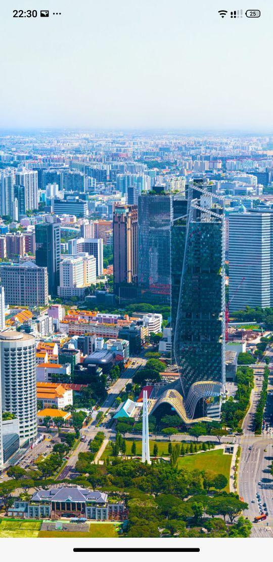 新加坡城市建设,绿化面积很高,不愧是花园城市