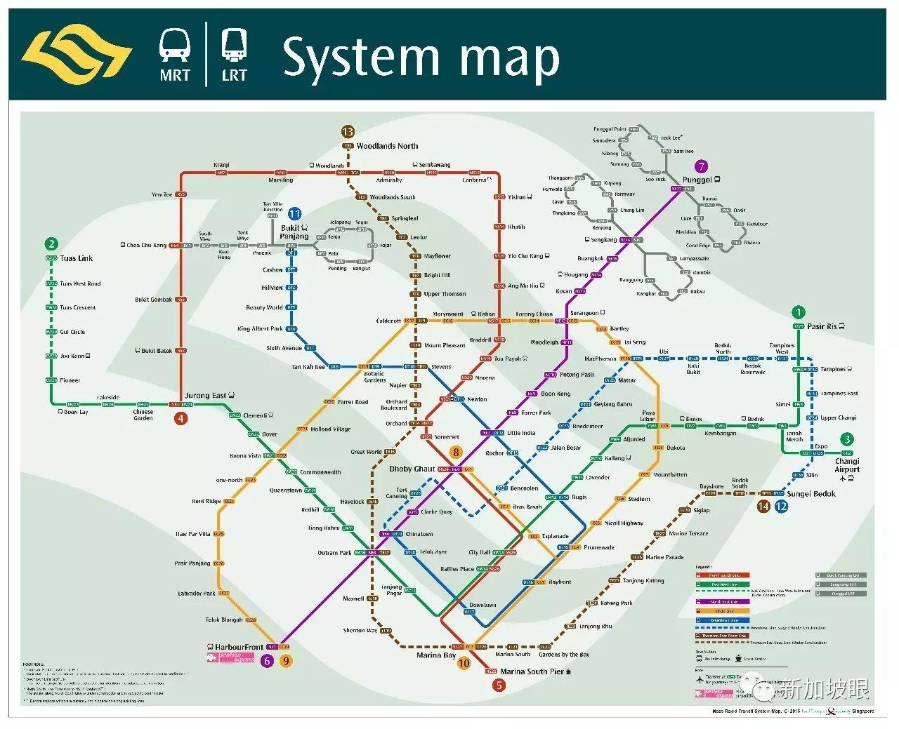 在新加坡,你一定看了假的MRT线路图